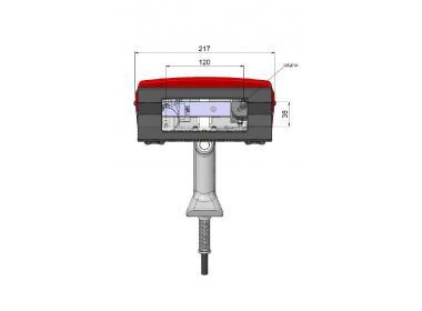 Маркировочная голова для e10-p123 c магнитным прижимом, окно 120*25 мм