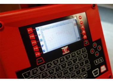 Стационарный маркиратор ec1, окно 100x120мм, ось вращения